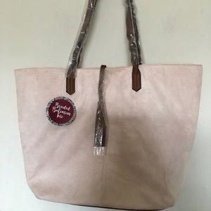 Nwt Arcadia Braided Bohemian Tote Bag Faux suede